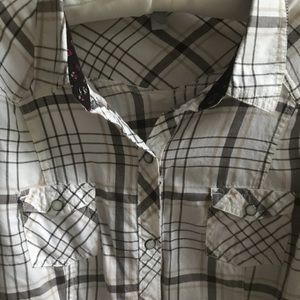 Old Navy Tops - Old Navy Plaid Cotton Flannel Button Down Top